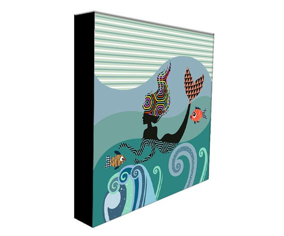 Mermaid Painting, Mermaid Art Print, Mermaid Poster, Mermaid Gift, Mermaid Wall Art Decor, Little Mermaid, Mermaid Accessories
