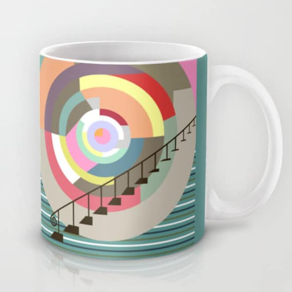 Cute Ceramic Mug, Tea Mug, Unique Coffee Mug, Drinking Mug, Cool Coffee Mug, Colourful Mug