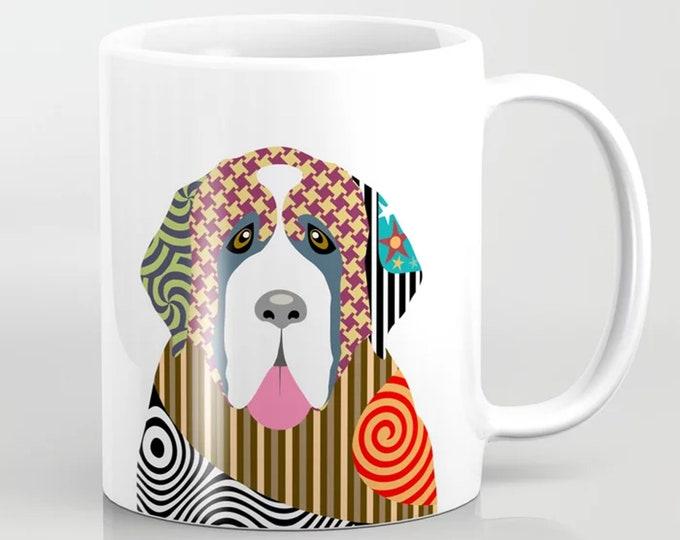 Saint Bernard Mug,  Dog Coffee Ceramic Cup Pet