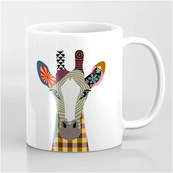 Giraffe Mug, Jungle Animal Ceramic Cup