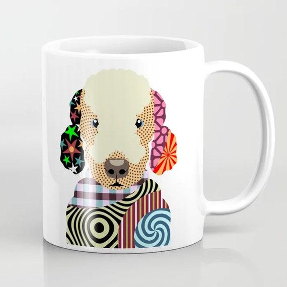 Bedlington Terrier Mug, Dog Coffee Cup Pet Portrait