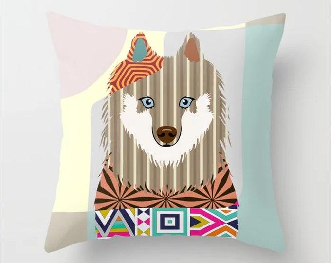 Samoyed Pillow, Smiley Sammy Dog  Cushion