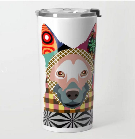 German Shepherd Dog, German Shepherd Gift, Dog Mug, Dog Lover Gifts, Stainless Steel Metal Mug, Unique Coffee Mugs,  Tea Mug, Travel Gift