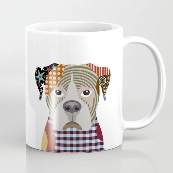 Boxer Mug, Dog Coffee Cup Doggy Gift Pet Portrait