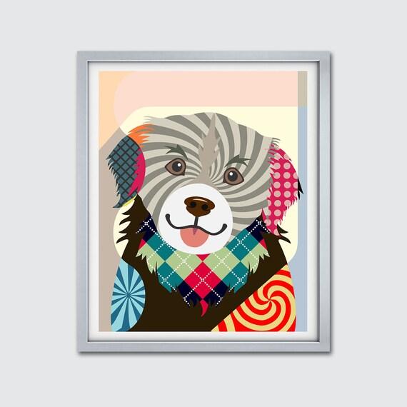 Tibetan Spaniel Art Print, Dog Home Decor