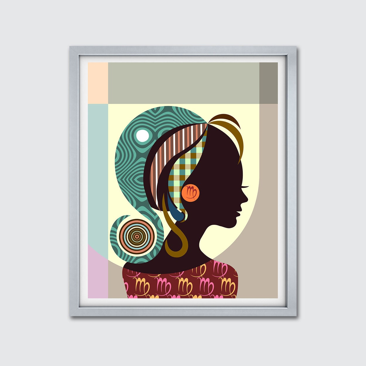 Virgo Art Print Poster , Zodiac Horoscope Birthday Gift