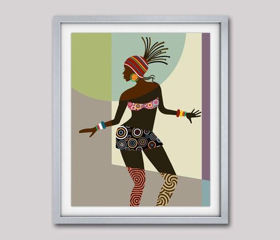 African Woman, African American Art,  Black Woman Painting, African wall Art,  African Art painting, Black Woman, African Decor