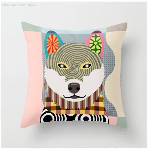 Shiba Inu Pillow, Shiba Inu Gift, Shiba Inu Lovers Gifts, Shiba Inu Print, Shiba Inu Decor, Animal Pillow, Pet Gifts, Pet Pillow