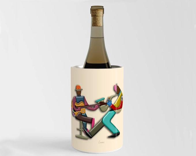 Music Wine Chiller, Jazz Champagne Bottle Holder DJ Gift