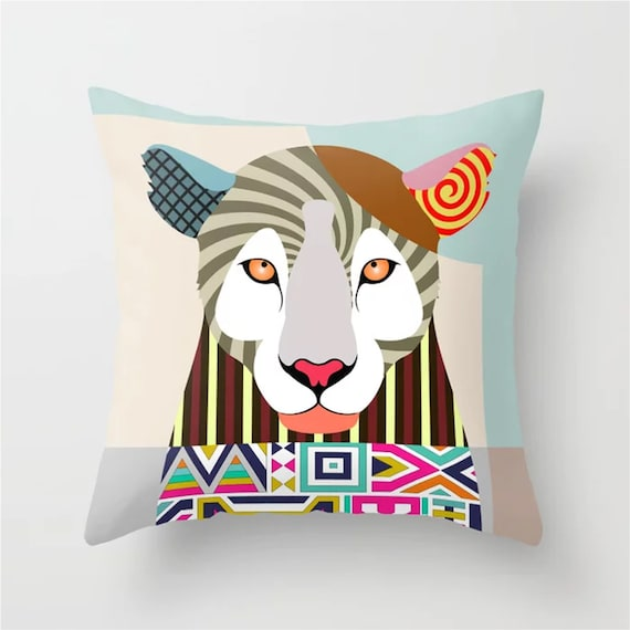Leopard Throw Pillow, Animal Pop Art Print Home Decor