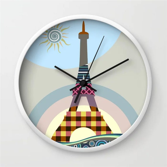 Eiffel Tower Clock, French Decor Paris Lover Gift