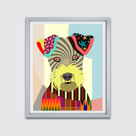 Irish Terrier Print, Irish Terrier Art, Irish Red Terrier, Irish Terrier Decor, Irish Terrier Poster, Irish Terrier Gift, Dog Painting