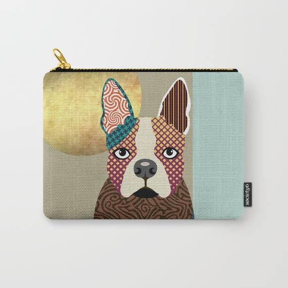 Boston Terrier Pouch,  Boston Terrier Lover Gifts, Boston Terrier Wallet, Boston Terrier Purse, Zipper Pouch, Coin purse, change purse