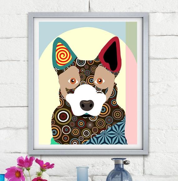 Australian Cattle Dog ACD Pet Portrait Doggie Print