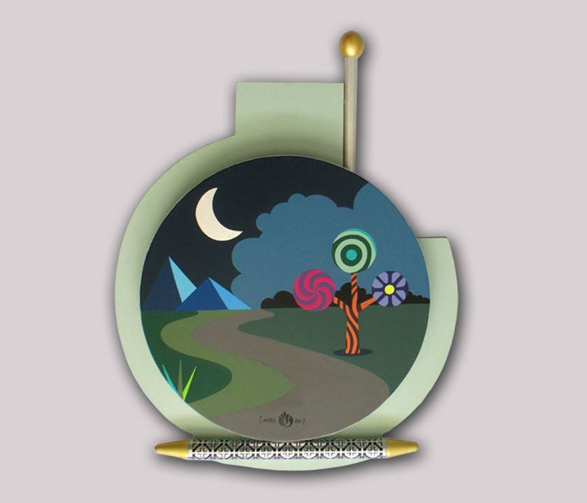 Night Sky Painting, Acrylic Landscape Painting, Original Landscape