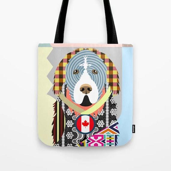 Newfoundland Tote Bag,  Dog Lover's Gift Pet Portrait