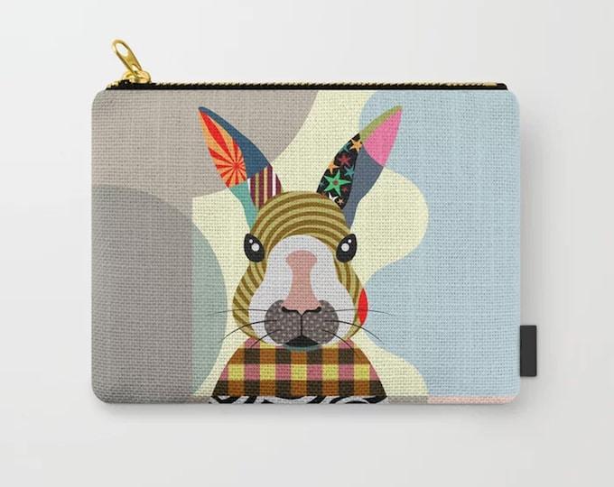 Bunny Pouch, Rabbit Coin Purse Zipper Wallet