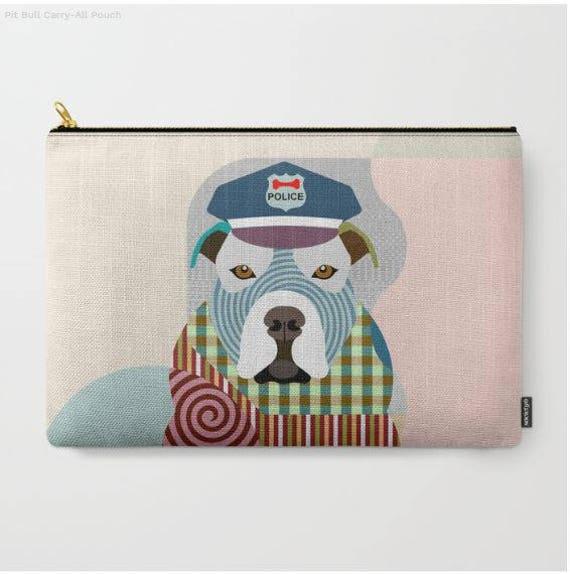 Pit Bull Pouch, Pit Bull Wallet, Pit Bull Purse, Pit Bull Gifts, Dog Wallet, Pet Pouch, Dog Pouch, Zipper Purse,  Dog Zipper Pouch