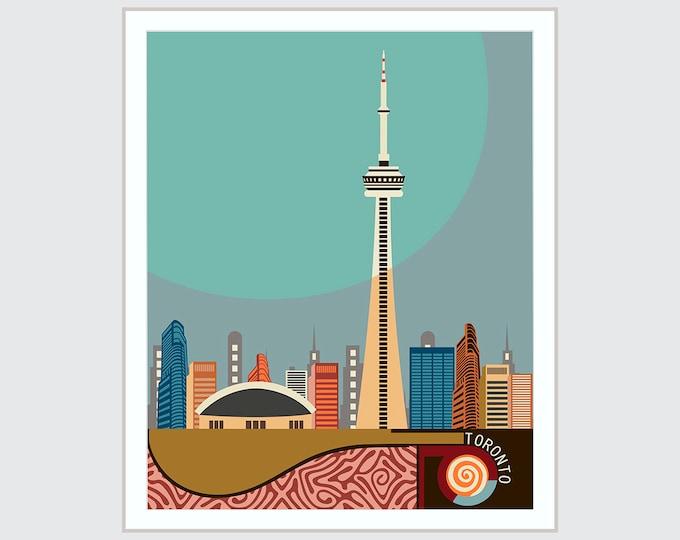 Toronto Skyline, CN Tower Canada Art City Decor