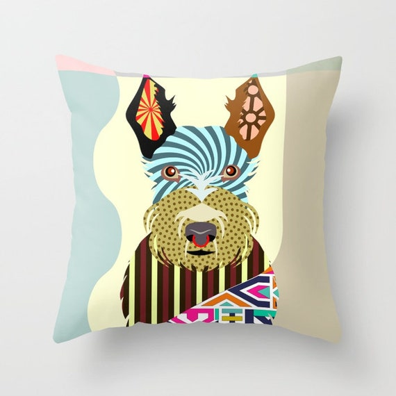 Scottish Terrier Pillow, Scottie Pillow, Scottie Gift, Scottie Decor, Scottie Print, Scottish Terrier Gift, Scottish Terrier Lovers Gift
