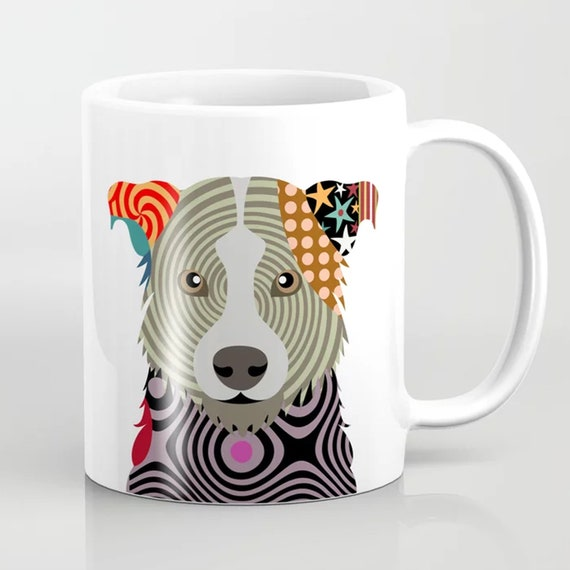 Border Collie Mug, Welsh Sheep Dog Ceramic
