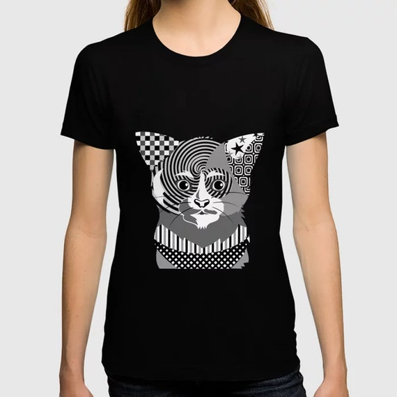 Cat T Shirt Unisex, Kitten Lover Crew Neck Apparel Gift