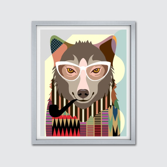 Wolf Artwork Home Decor, Wolf Wall Art Print