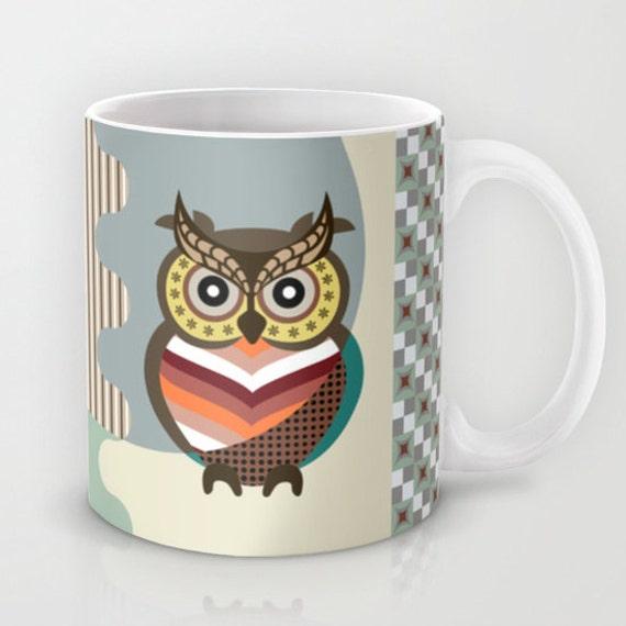 Owl Mug, Wise Owl Mug, Tea Mug, Bird Mug, Ceramic Mug Owl, Unique Coffee Mug, Drinking Mug, Cool Coffee Mug