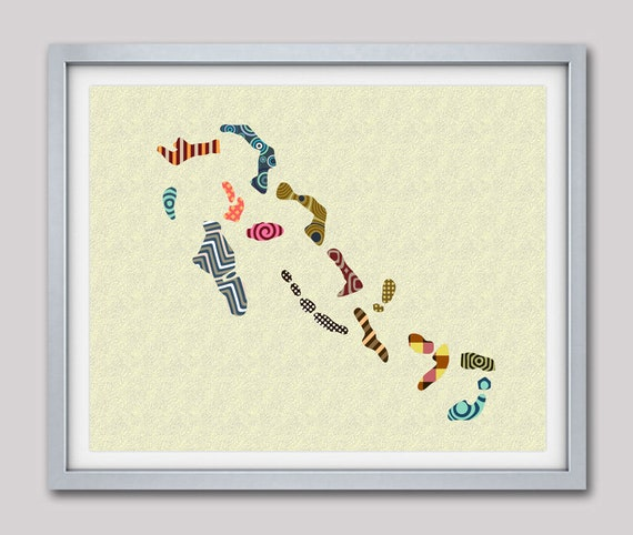Bahamas Art, Bahamas Map, Bahamas Decor, Bahamas  Print, Nassau, Bahamas Poster, Bahamas Painting, Bahamas Gift, Bahamas Souvenir