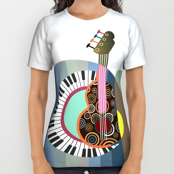 Music T Shirt, Printed T Shirt, Designer T Shirt For Women, T Shirt Men, Music Clothing,  Womens Tees, Mens Tees