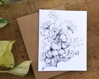 Blank Note Cards, Set of 10 Notecards, Note Cards Floral, Note Cards with Envelopes, Thank You Notes, Notecards with Flowers, Notecard