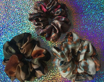 SALE!! UPCYCLED UNIVERSE Hair Scrunchies