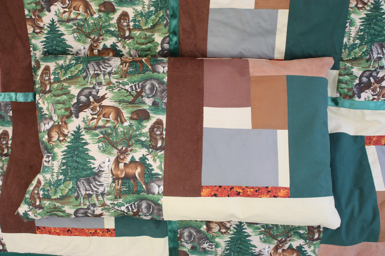 Woodland Fantasy Léger Quilt réversible 84 x 58 avec oreiller assorti