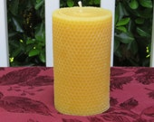 Pure 100 Beeswax 6 quot Rolled Pillar Candle