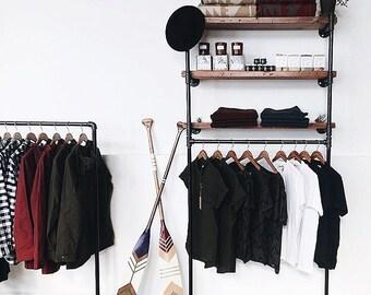 Wall Fixture-Reclaimed Wood Shelf Display or Closet Organizer