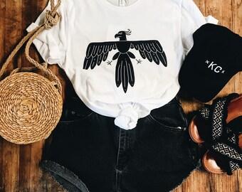 LIVE FREE Thunderbird, Unisex T-Shirt, White