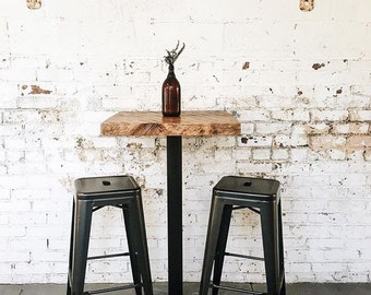 Reclaimed Industrial Cafe   Pub   Bistro Table