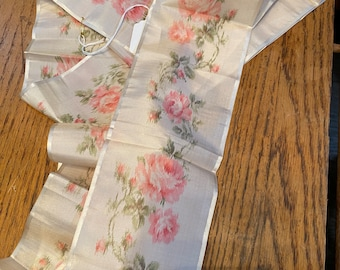 silk watered roses antique authentic ribbon