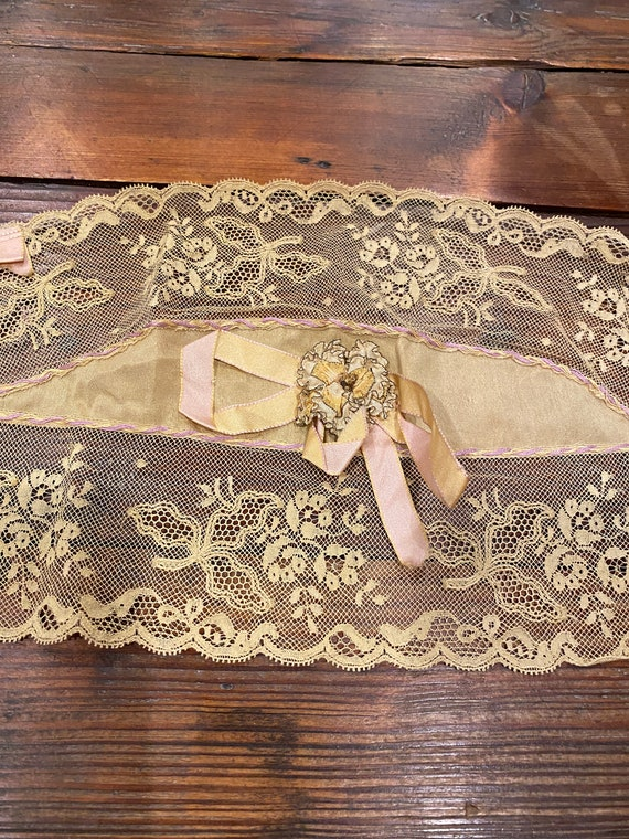 Lovely antique bra top with ribbon work