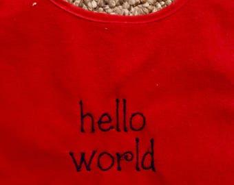 Bib- Hello world