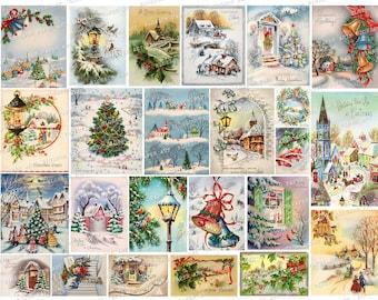 Xmas Ephemera Christmas Stickers Antique Christmas Label Antique Christmas Sticker Christmas Ephemera Xmas Stickers 40s Christmas