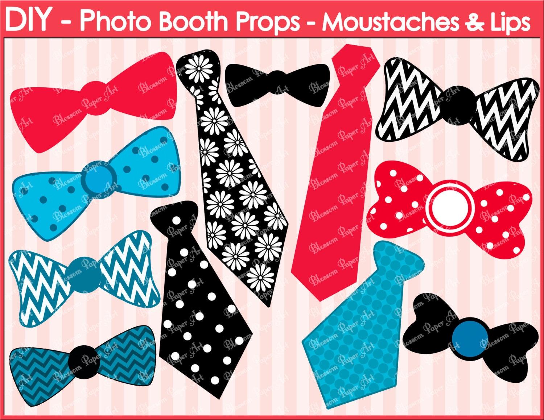 Ties Ribbons Printable Photo Booth Props Diy Weddings Etsy