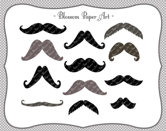 It's just a graphic of Printable Moustaches regarding cardboard