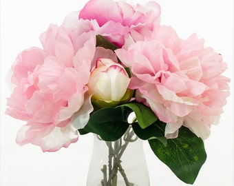 Items Similar To Real Touch Artificial Lotus Arrangement In Round