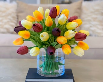 Tulip Arrangement Etsy