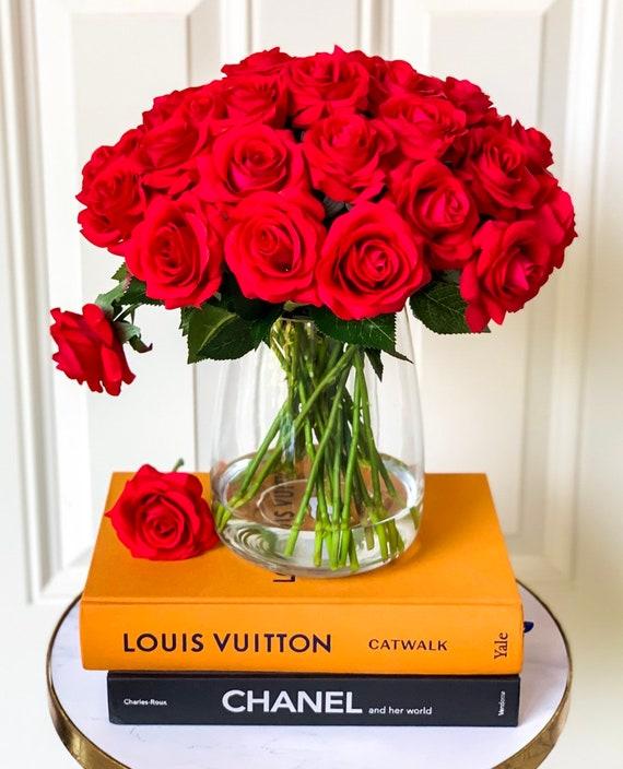 Red Roses Flower Arrangement Large Rose Arrangement 30 Real Etsy