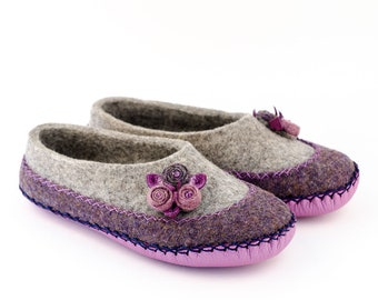 """Organic felted slippers """"Cosmey"""" 