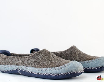 """Women's felted slippers """"Squaw"""" 