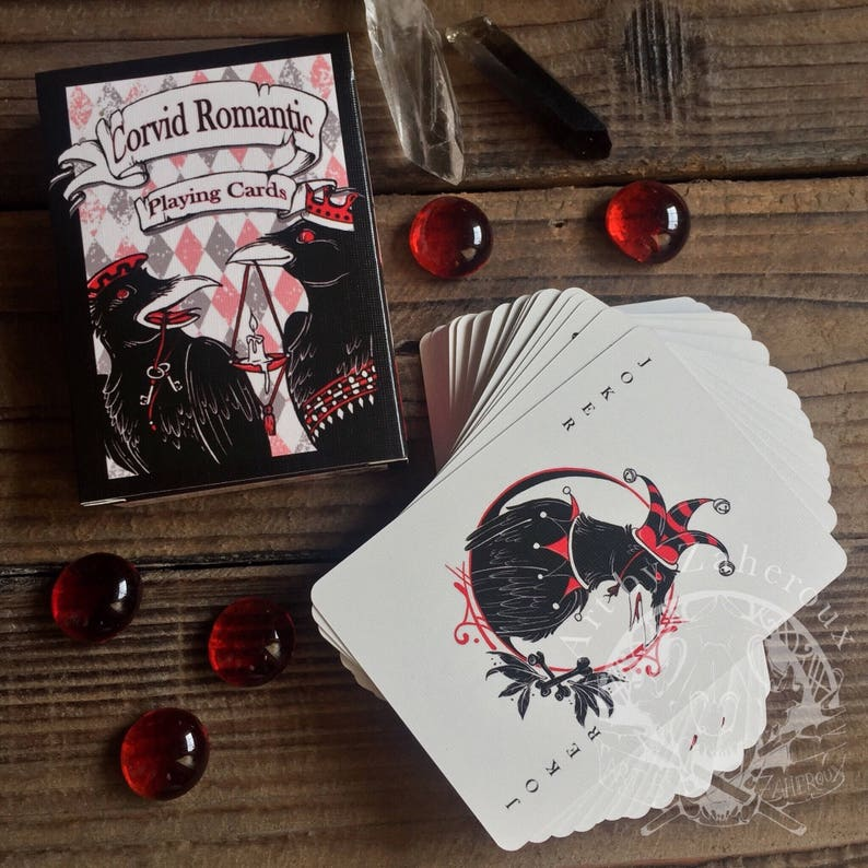 Corvid Romantic Playing Card Deck  First Edition image 0