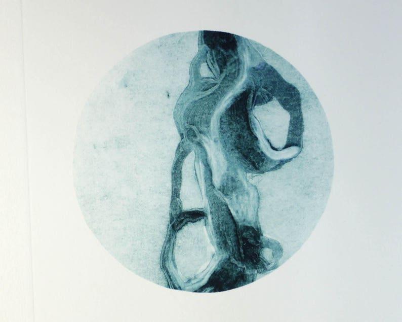 Garland of the Future 1  monotype carborundum collagraph art image 0